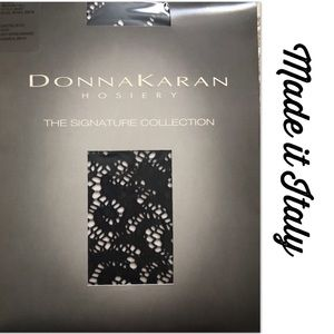 Donna Karan Accessories - Donna Karan Hosiery Black Lace Open Weave Lovely
